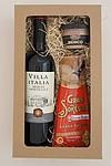 Sada vína, sýru a paštiky v dárkové krabici