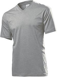 Tričko STEDMAN CLASSIC V-NECK tmavě šedý melír S - reklamní trička