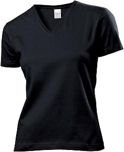 Tričko STEDMAN CLASSIC V-NECK WOMEN černá XXL - reklamní trička