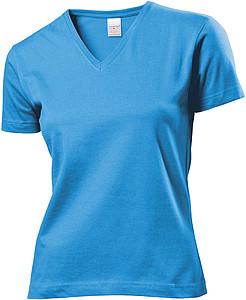 Tričko STEDMAN CLASSIC V-NECK WOMEN světle modrá M - reklamní trička