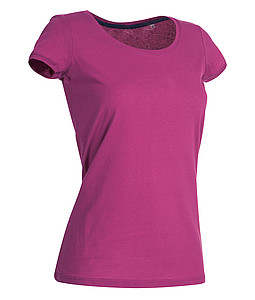 Tričko STEDMAN STARS MEGAN CREW NECK tmavě růžová S - reklamní vesty