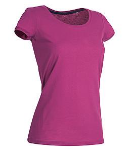 Tričko STEDMAN STARS MEGAN CREW NECK tmavě růžová S