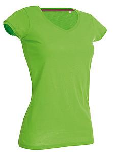 Tričko STEDMAN STARS MEGAN V-NECK světle zelená XL