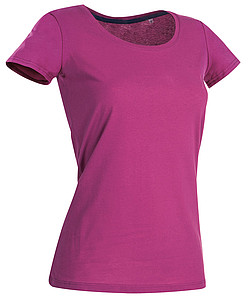 Tričko STEDMAN STARS CLAIRE CREW NECK tmavě růžová M
