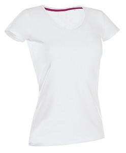 Tričko STEDMAN STARS CLAIRE V-NECK bílá M
