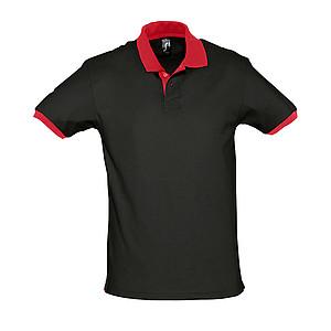 Polokošile SOL´S PRINCE,černá/červená, XL - reklamní bundy