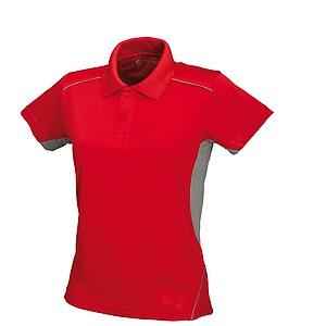 SCHWARZWOLF PALISADE funkční polokošile pánská, červená/šedá L