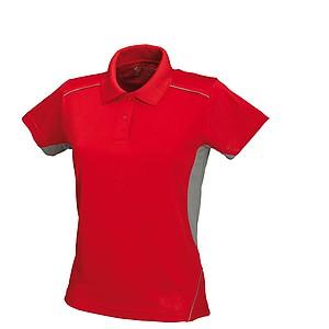SCHWARZWOLF PALISADE funkční polokošile dámská, červená/šedá M