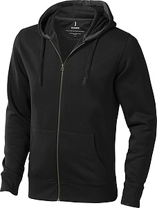 Mikina ELEVATE ARORA HOODED FULL ZIP SWEATER antracitová 3XL