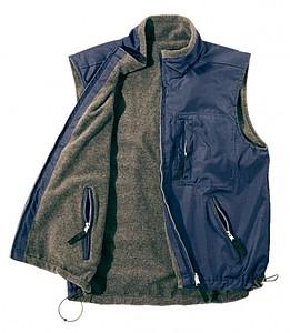 oboustranná vesta L-XL, modrá
