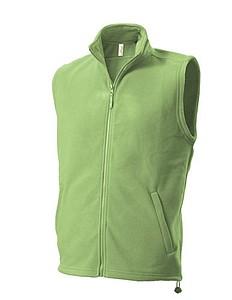 UNISEX FLEECE VEST Fleecová vesta, světle zelená XL