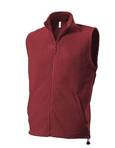 UNISEX FLEECE VEST Fleecová vesta, tmavě červená XXL