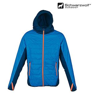 SCHWARZWOLF MODOC bunda pánská modrá,oranžový zip, XXL - reklamní bundy