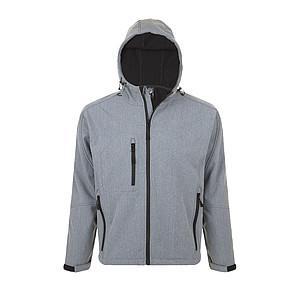 Softsheelová bunda SOLS REPLAY, šedý melír, L - reklamní bundy