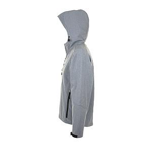 Softsheelová bunda SOLS REPLAY, šedý melír, L