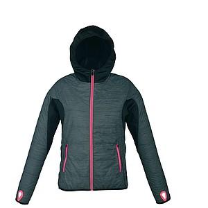 SCHWARZWOLF MODOC bunda dámská šedá,růžový zip, L