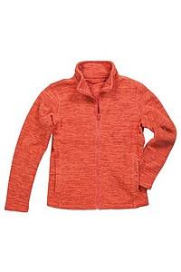 Bunda STEDMAN ACTIVE MELANGE FLEECE JACKET WOMAN oranžový melír M - reklamní vesty