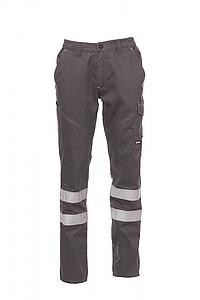 Payper WORKER REFLEX pracovní kalhoty s reflexními pruhy, kouřová, 3XL