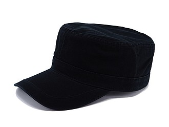 LAWRENCE kšiltovka ve vojenském stylu, černá - reklamní čepice
