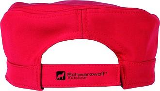 SCHWARZWOLF VALI softshellová čepice s kšiltem, červená