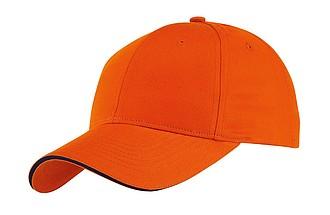 GILES kšiltovka oranžová - reklamní čepice