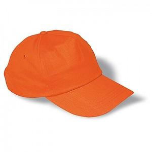 Basebalová čepice bavlněná, oranžová - reklamní čepice