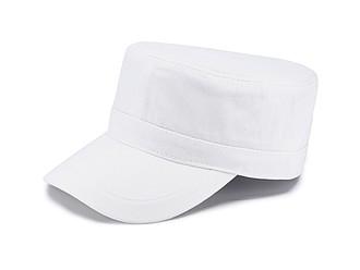 LAWRENCE kšiltovka ve vojenském stylu, bílá - reklamní čepice