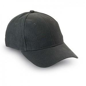 SKATE 6ti panelová bavlněná baseballová čepice-černá