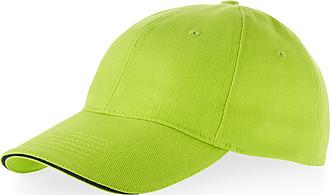 RIDER bavlněná čepice Slazenger, 6 panelů, světle zelená