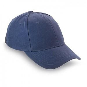 SKATE 6ti panelová bavlněná baseballová čepice, modrá
