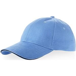 RIDER bavlněná čepice Slazenger, 6 panelů, modrá - reklamní čepice