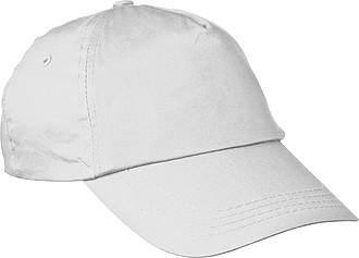 Bavlněná kšiltová čepice pětipanelová, neobsahuje AZO, bílá