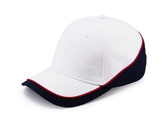 PASCAL Dvoubarevná šestipanelová čepice, bílá, námořní modrá