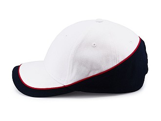 PASCAL Dvoubarevná šestipanelová čepice, bílá/námořní modrá