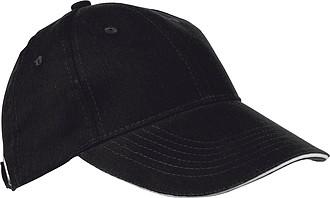 Baseballová čepice z bavlny, neobsahuje AZO, černá