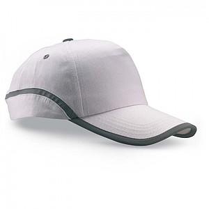 ENZO Bavlněná baseballová čepice, bílá