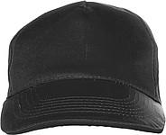 PROGRESA Pětipanelová bavlněná čepice, černá - reklamní čepice