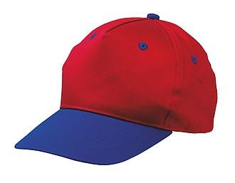 dětská kšiltovka červeno-modrá