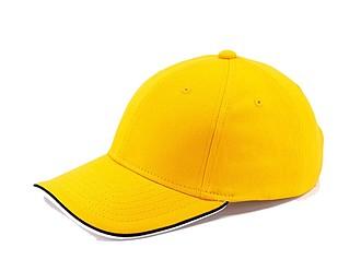 STAN Čepice s kšiltem, žlutá - reklamní čepice