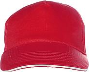 PROGRESA Pětipanelová bavlněná čepice, červená