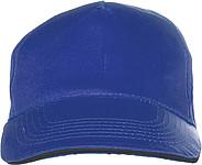 PROGRESA Pětipanelová bavlněná čepice, kobaltová - reklamní čepice