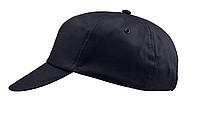 ŽOKEJ Pětipanelová bavlněná čepice, černá