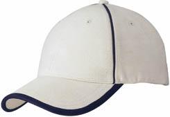 GIRO bavlněná čepice Slazenger, 6 panelů, přírodní - reklamní čepice