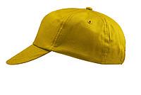 ŽOKEJ Pětipanelová bavlněná čepice, žlutá