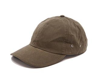 PLAIN Plátěná čepice s kšiltem, olivová - reklamní čepice