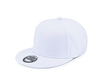 SNAPO Kšiltovka s placatým kšiltem, bílá - reklamní čepice