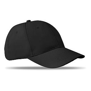 Šestipanelová kšiltovka, černá