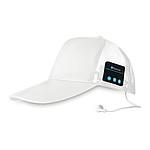Bluetooth čepice se sluchátky, bílá
