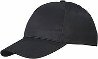 Bavlněná pětipanelová kšiltovka, černá