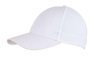 Šestipanelová kšiltovka se síťkou, bílá